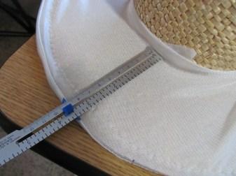 measuring the brim