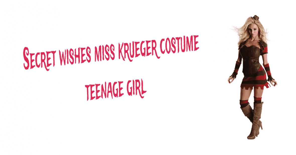 Secret wishes miss krueger costume teenage girl