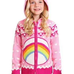 Care Bears Cheer Bear Zip Up Knit Sweater for Kids