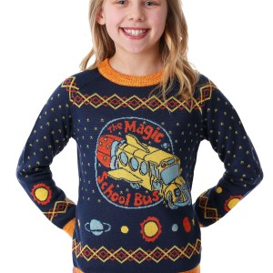 Child Magic School Bus Ugly Christmas Sweater