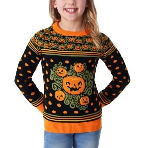 Child Pumpkin Patch Halloween Sweater