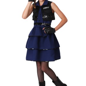 Girl's themed SWAT Costume