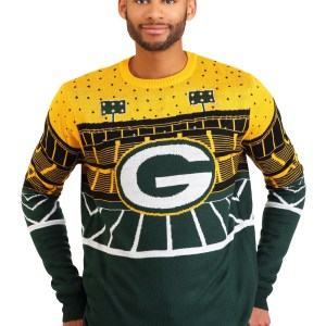 Green Bay Packers Light Up Bluetooth Men's Ugly Christmas Sweater