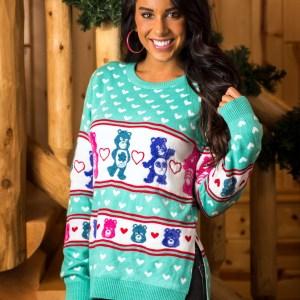 Hi-Lo Care Bears Ugly Christmas Sweater for Women XS S M L XL XXL XXXL 1X 2X 3X