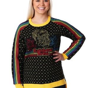 Hi-Lo Women's Rainbow Brite Ugly Christmas Sweater XS S M L XL XXL XXXL 1X 2X 3X
