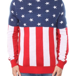 Tipsy Elves Mens American Flag Holdiay Sweater