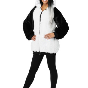 Women's Plus Size Panda Hooded Jacket Costume 1X 2X
