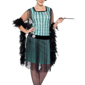 Women's Plus Size 1920s Mint Coco Flapper Costume