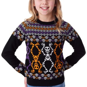 Day of the Dead Dancing Skeletons Child Halloween Sweater
