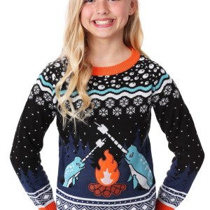 Kids Narwhal Ugly Christmas Sweater