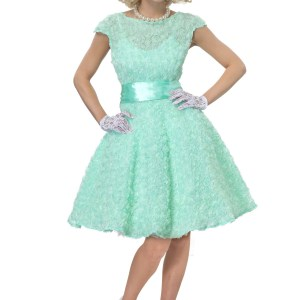 50's Women's Plus Size Prom Dress Costume