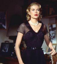 La robe noire de Grace Kelly crée par Edith head