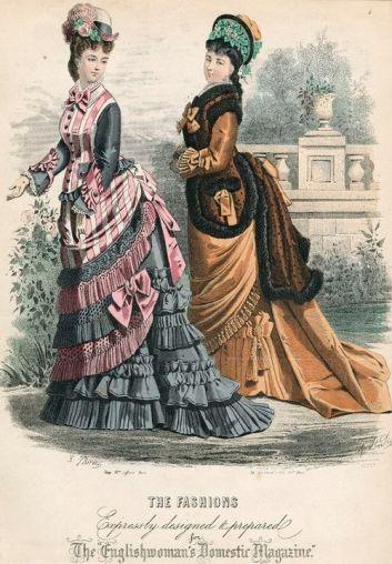 Gravure de mode des années 1870 (8)