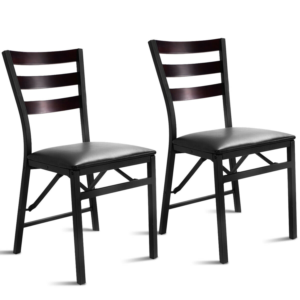 Foldable Dining Chairs Set Of 2 Portable Folding Dining Chairs