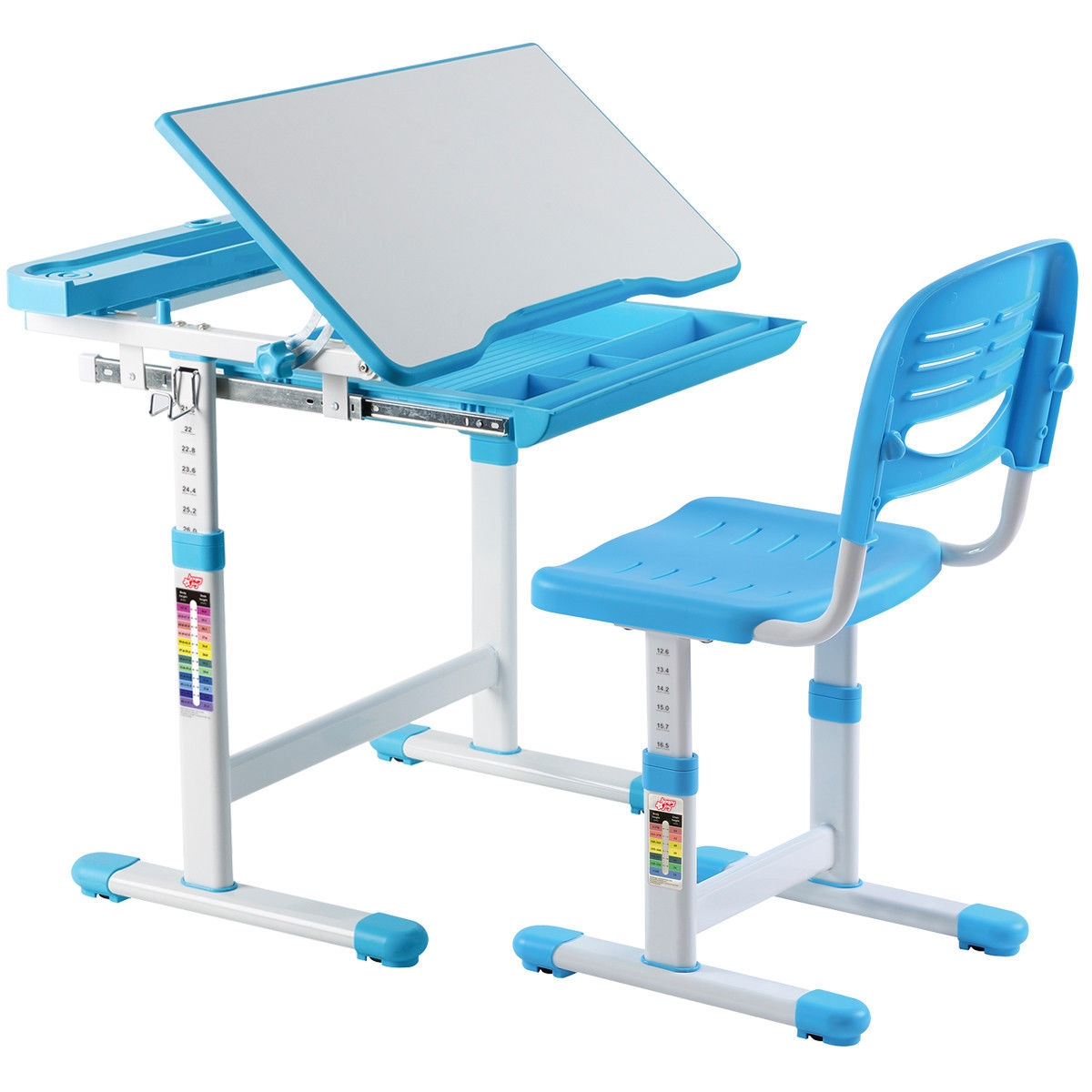 Desk And Chair Set Multifunctional Height Adjustable Children S Desk Chair Set