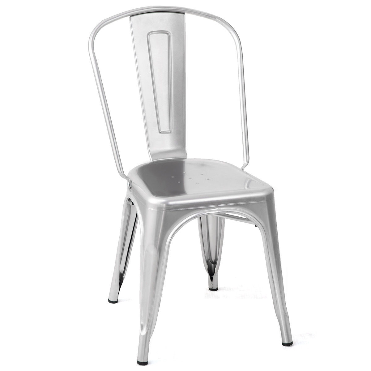 White Bistro Chairs Set Of 4 Tolix Style Dining Chair Stackable Bistro Chair