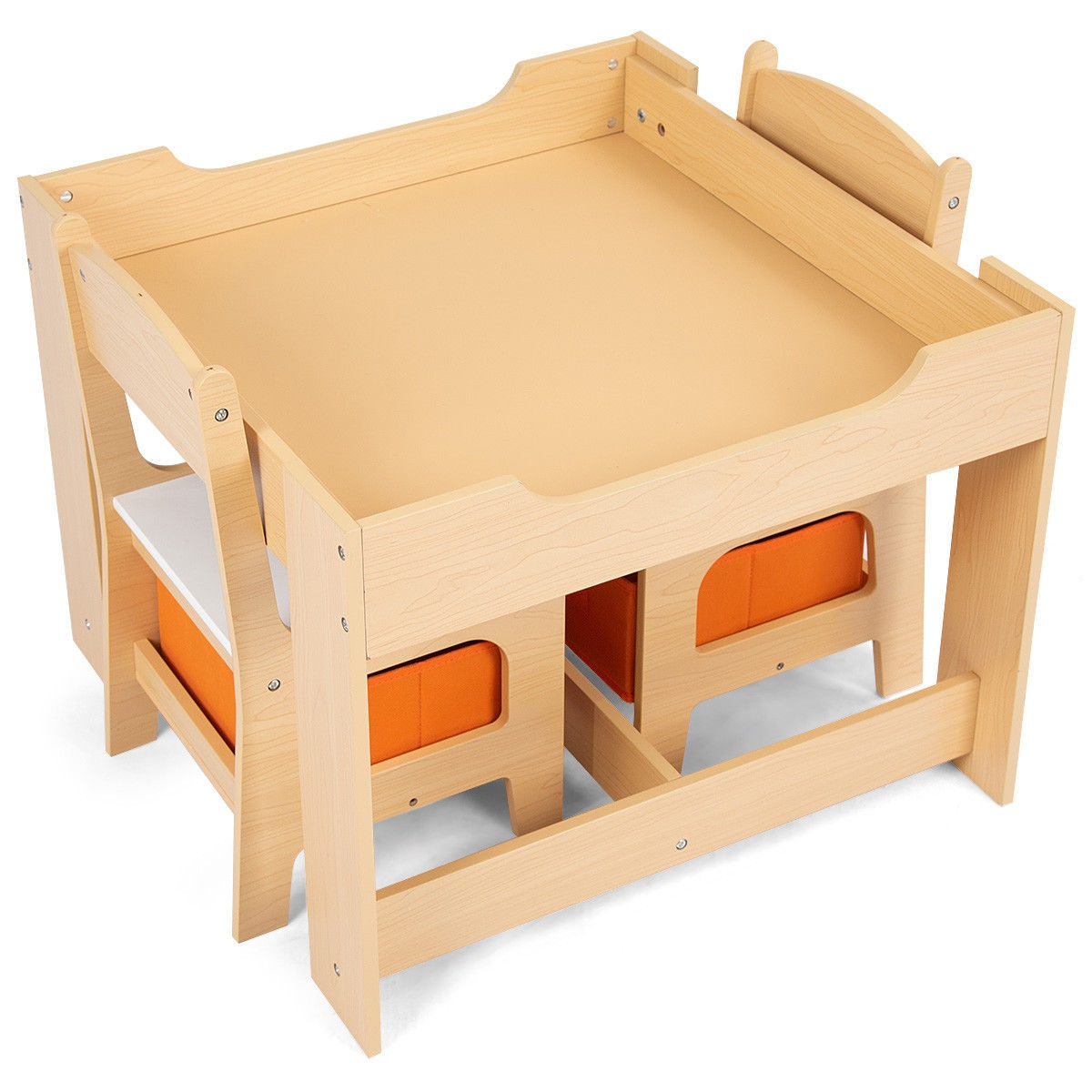 Infant Table And Chairs Kids Table And Chair Set With Storage Boxes