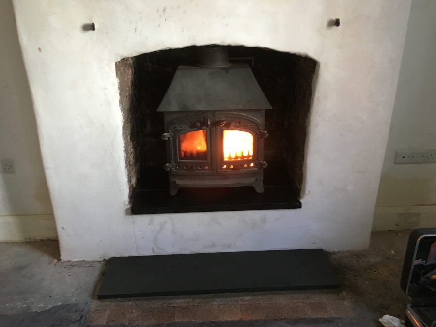 Wood burning stove installation in Taunton