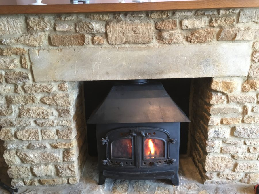 Installation of Villager Woodburner in Curry Rival in Somerset