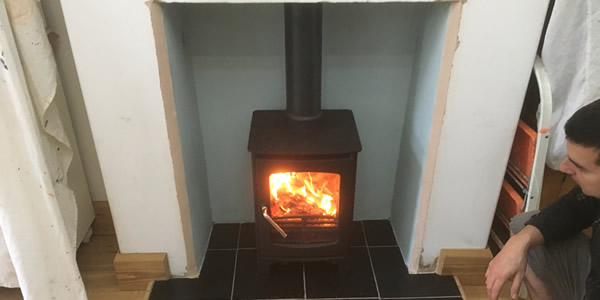 Owatta wood burnering stove installation Taunton