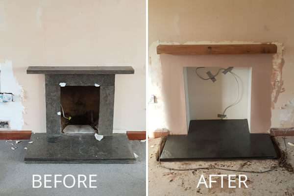 Wood burning stove installation in Curry Rivel near Taunton