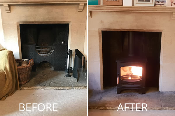 HETAS Woodburner installation in Bath