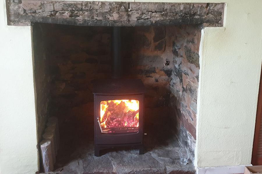 Woodburner installer Tiverton