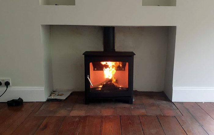 woodburner installation Holford