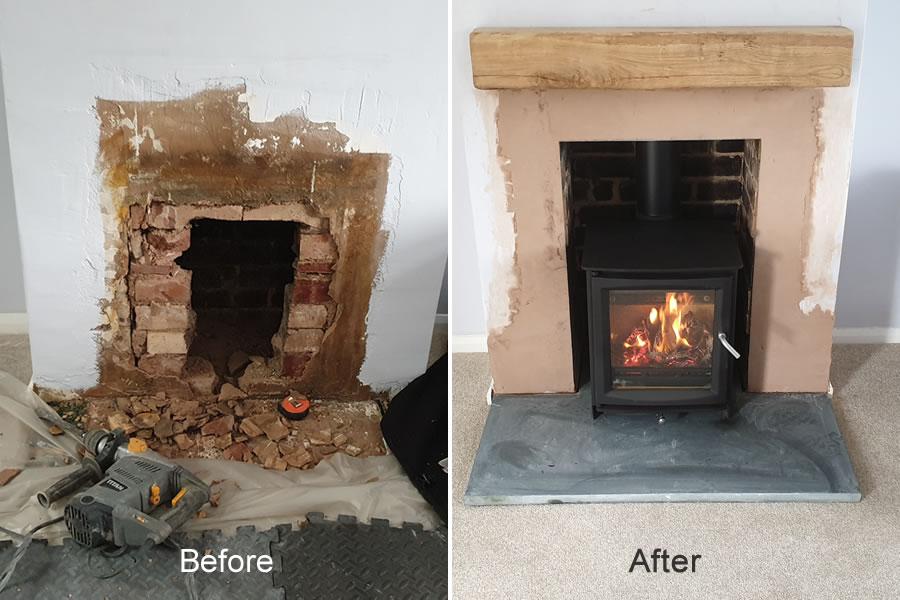 Woodburner installer in Tiverton
