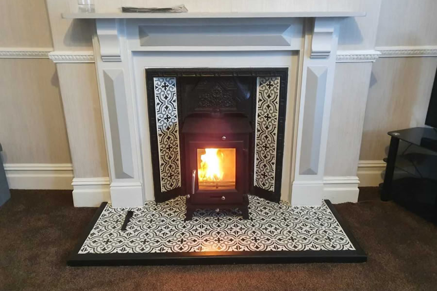Woodburner installation a Victorian Fireplace in Minehead