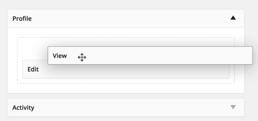 BuddyPress Reorder Tabs