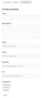 BuddyPress Simple Events - фронтэнд