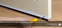 How To Install Weather Stripping Around Your Front Door ...