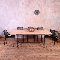 Metal Pipe Legs Industrial Style Dining Table | cosywood.co.uk