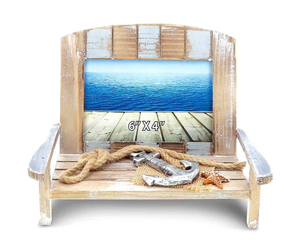 beach chair photo frame big bean bag chairs nautical decor cota global neptune