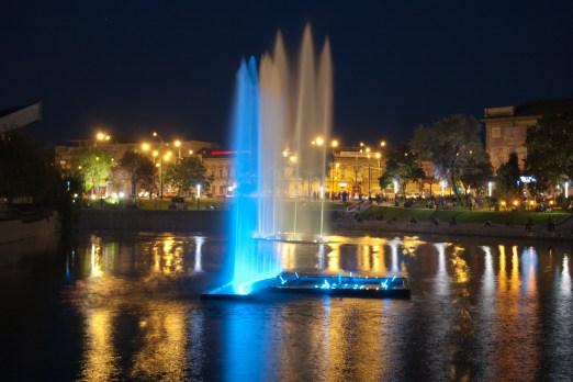 Fantana arteziana de pe lacul de la Podgoria, Arad
