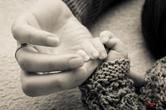 De mana cu mami, fotografie bebe, Arad