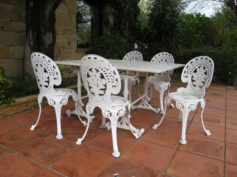 Salon De Jardin En Fonte D Aluminium | Salon Fonte Aluminium ...