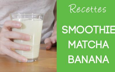 Smoothie Matcha Banana