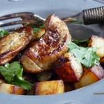 Escalope de foie gras & pomme sde terre sautées