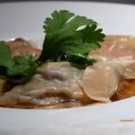 Ravioles foie gras & duxelle de champi bouillon