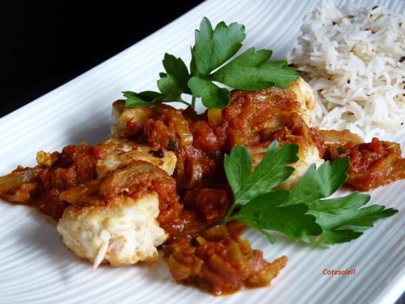 Brochettes de poulet sauce Massala