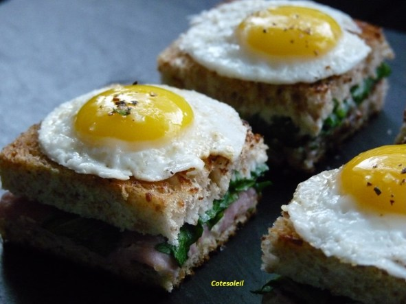 Mini croque madame