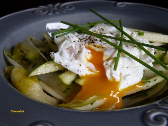 Salade endvies & oeuf mollet