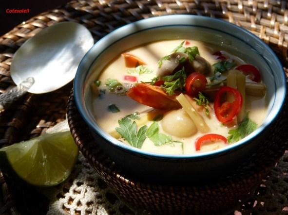 Soupe crevette lait de coco
