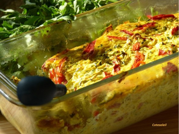 Flan courgettes & poivrons