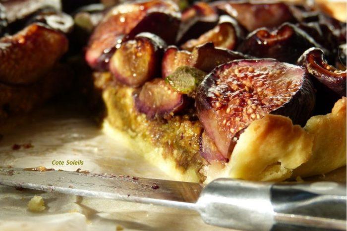Tarte aux figues & pâte de pistaches