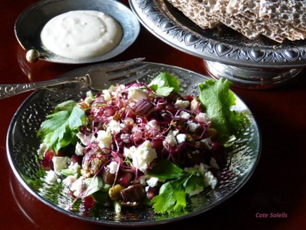 Salade d'aubergine rôtie à la libanaise