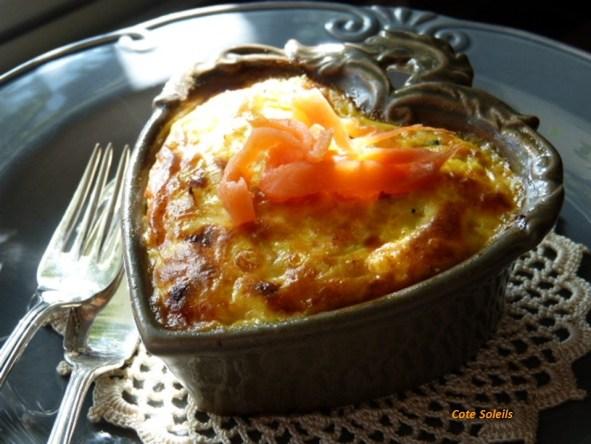 Clafoutis aux 2 saumons & poireaux