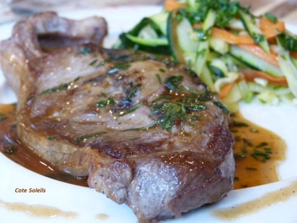 Selle d'agneau & tagliatelles de légumes